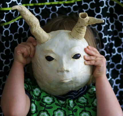 """mutant bunny"" mask by Alma Pottery"