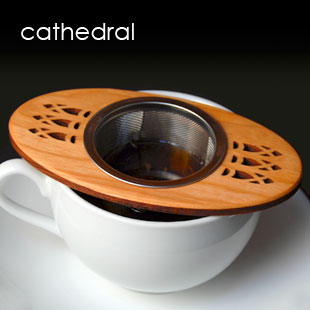 "Tea Strainer in ""Cathedral"" design"