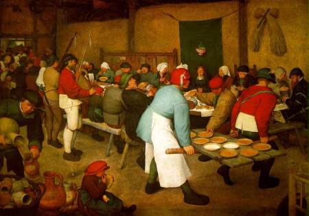 Peasant Wedding by Pieter Breugel the Elder